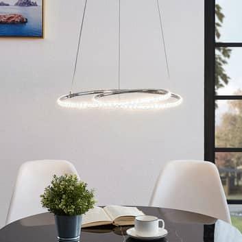 Lindby Lucy LED závěsné světlo, 45cm, krystal