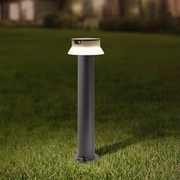 Lampione LED solare Felice nero CCT altezza 73 cm