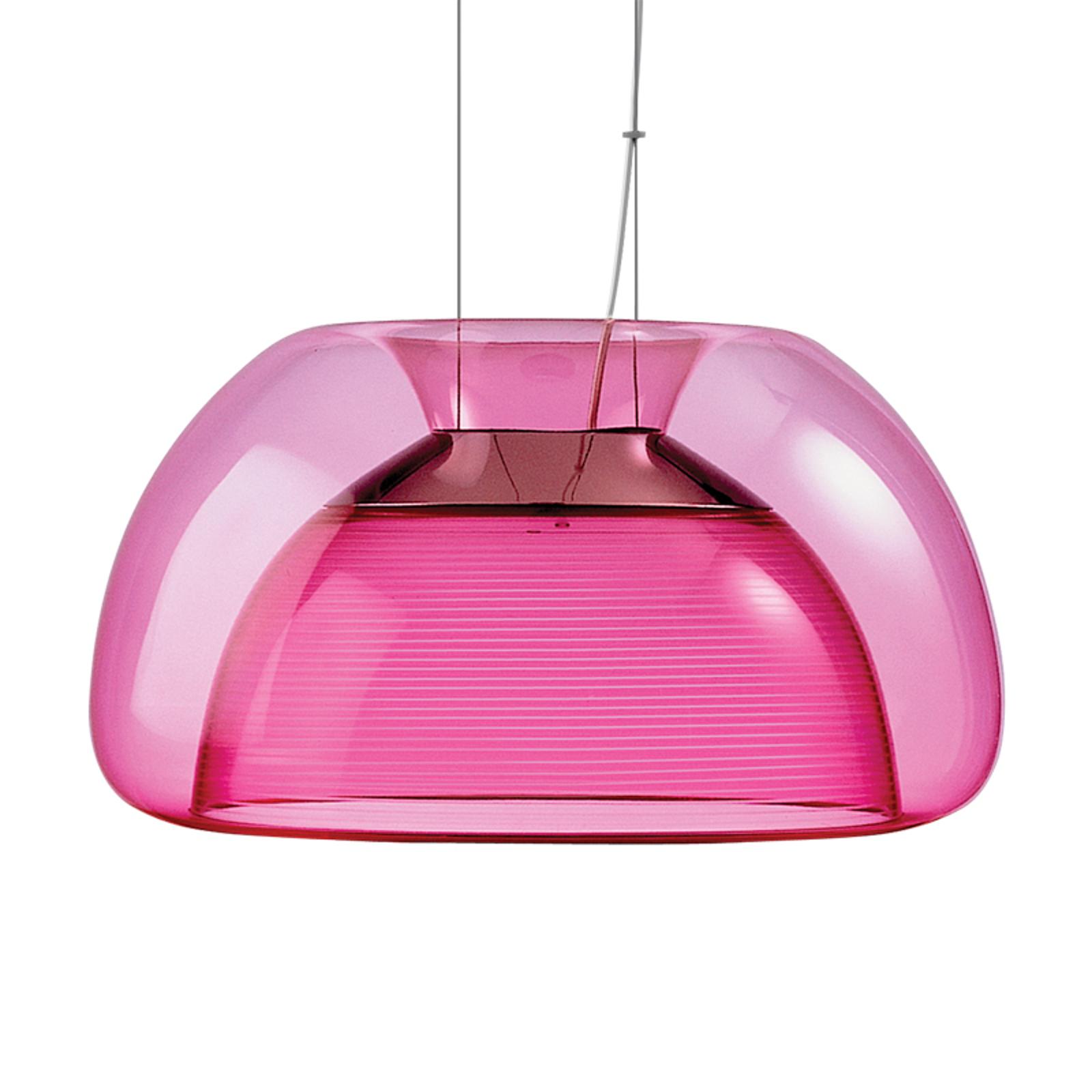 Lámpara colgante LED Aurelia colorida, rosa