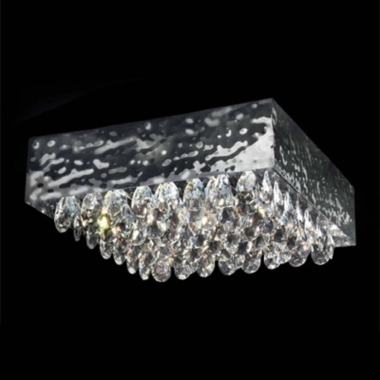 Lampa sufitowa MAGMA z kryształkami, 51x51cm