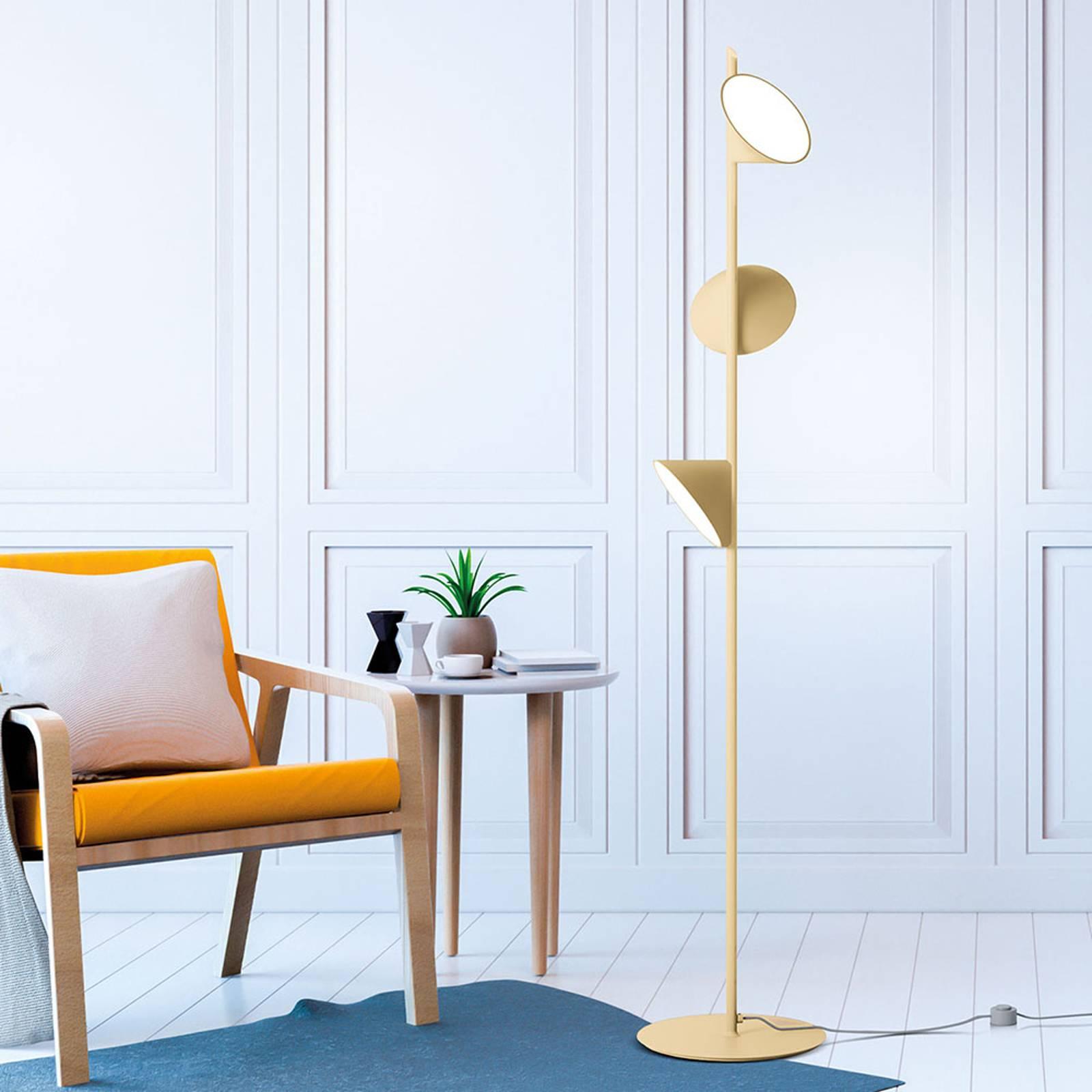 Axolight Orchid lampa stojąca LED, piaskowa