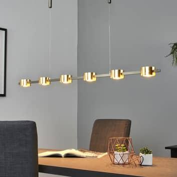 Zlaté – LED závěsné světlo Niro, stmívatelné