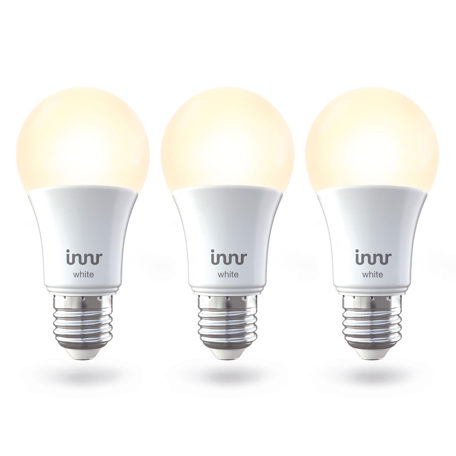 Innr LED-Lampe E27 9W Smart warmweiß 806lm 3er
