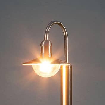 Buet gatelampe Damion av rustfritt stål
