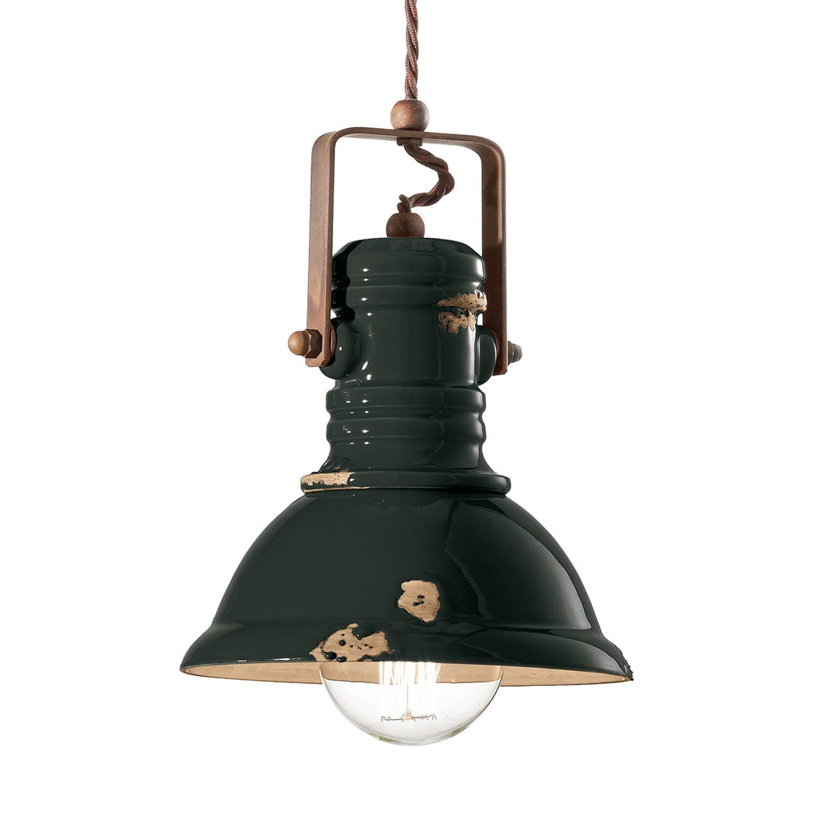 Hanglamp C1691 in industrieel design zwart