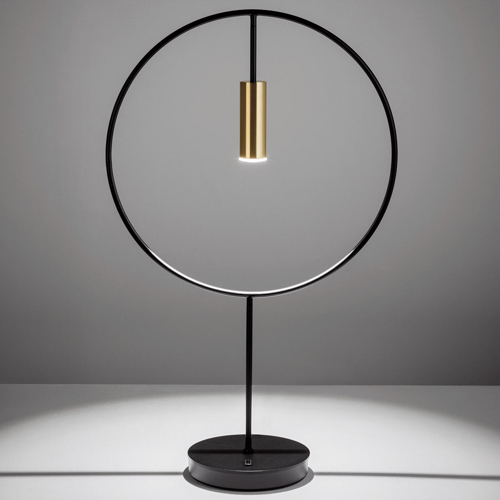 Lampe à poser de designer LED Revolta, doré