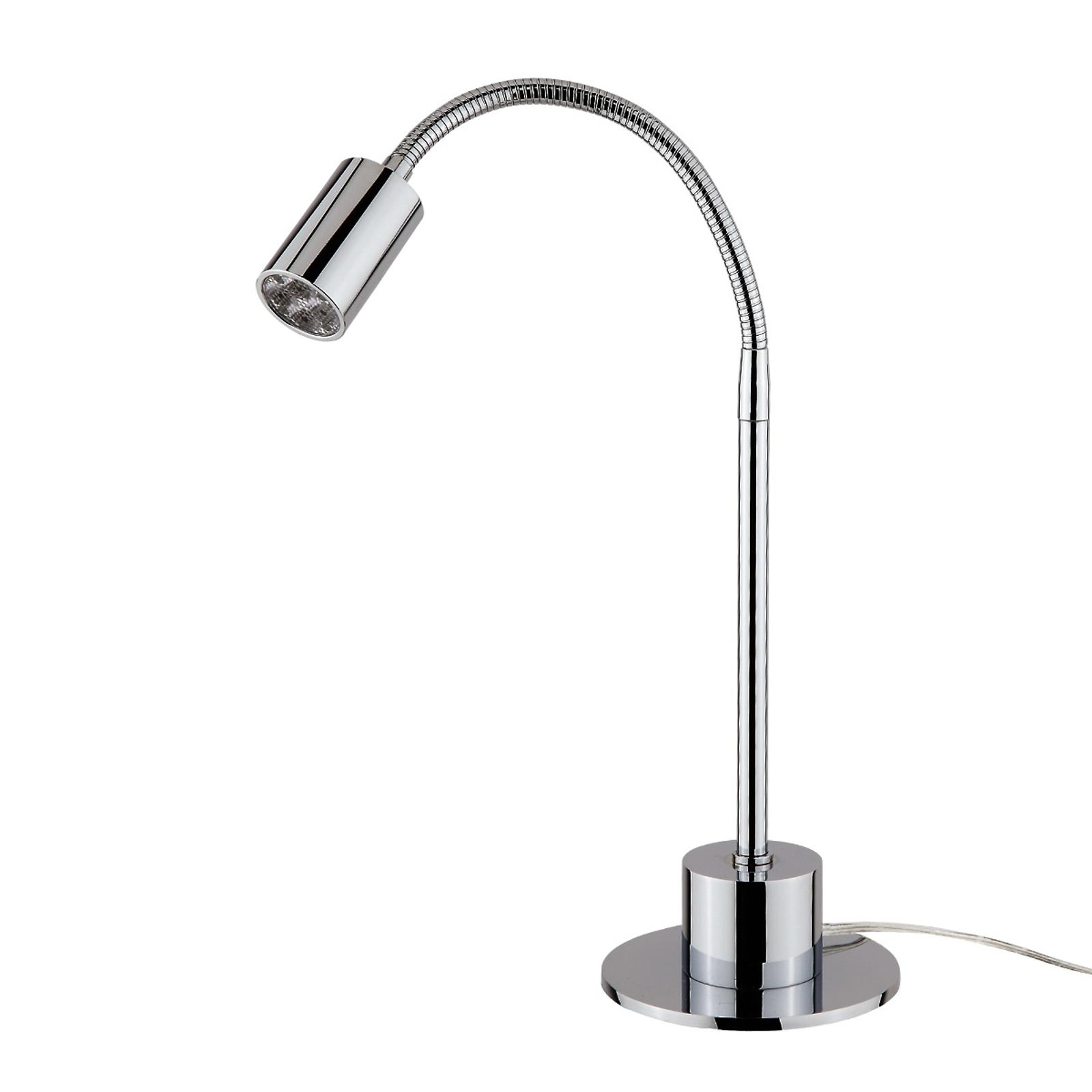 Chromová lesklá stolní lampa LED Karen