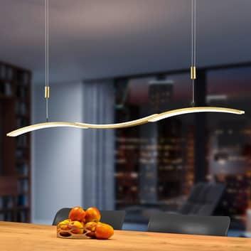 BANKAMP Wave II lampa wisząca LED ZigBee złota