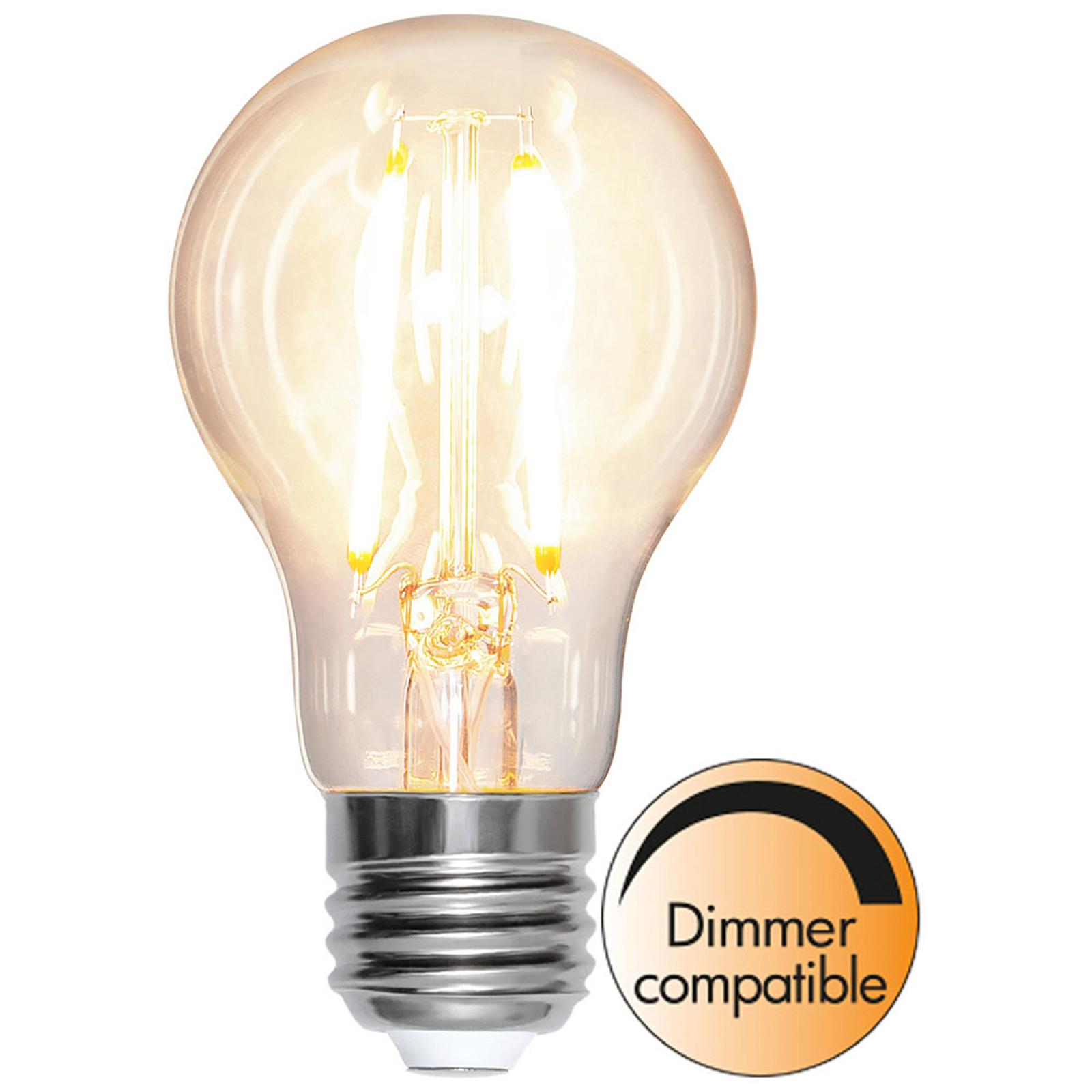 E27 LED-pære 8W filament 2.700K 1.000lm kan dæmpes