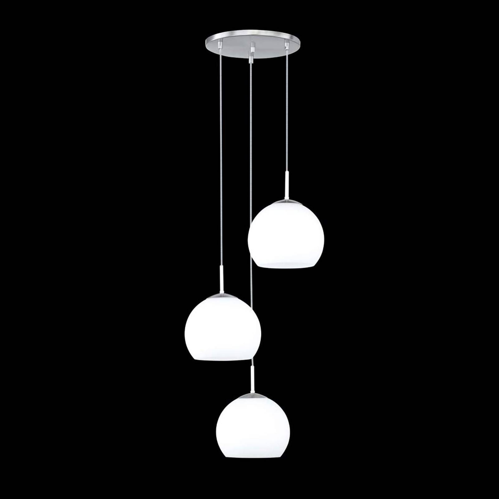 Hanglamp Bolero met 3 lampjes, rond