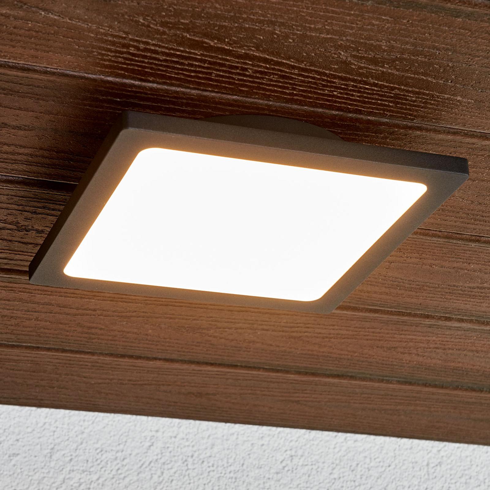 Tummanharmaa Mabella-LED-ulkokattovalaisin
