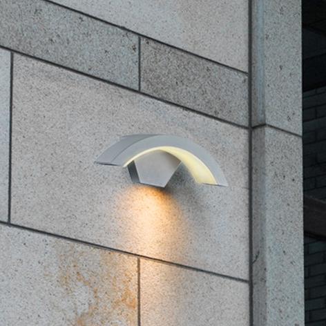 Titanfärgad utomhusvägglampa Ohio LED