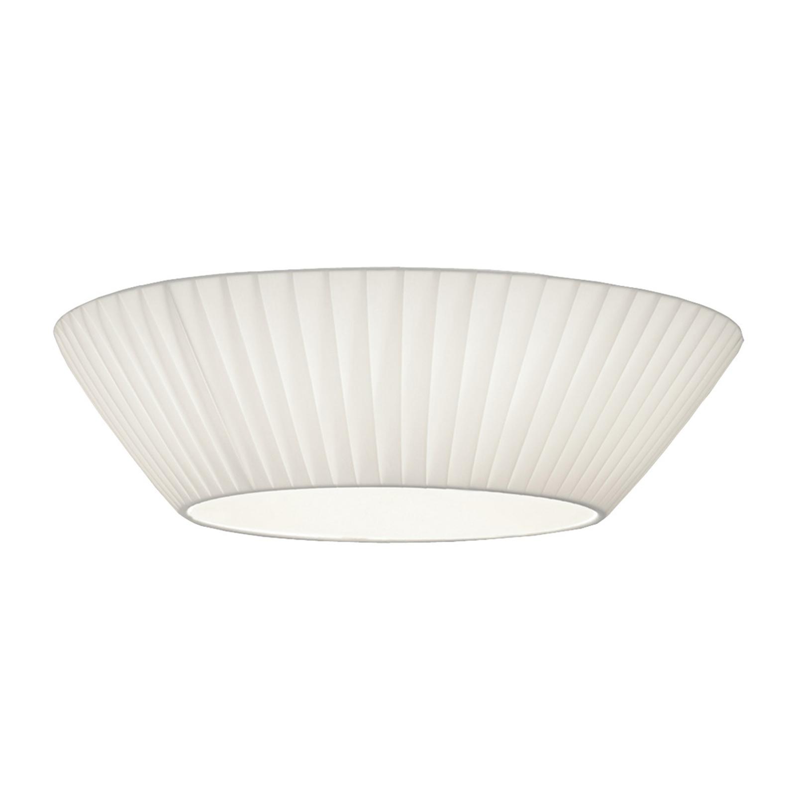 Prosta lampa sufitowa Emma, śr. 50 cm biała