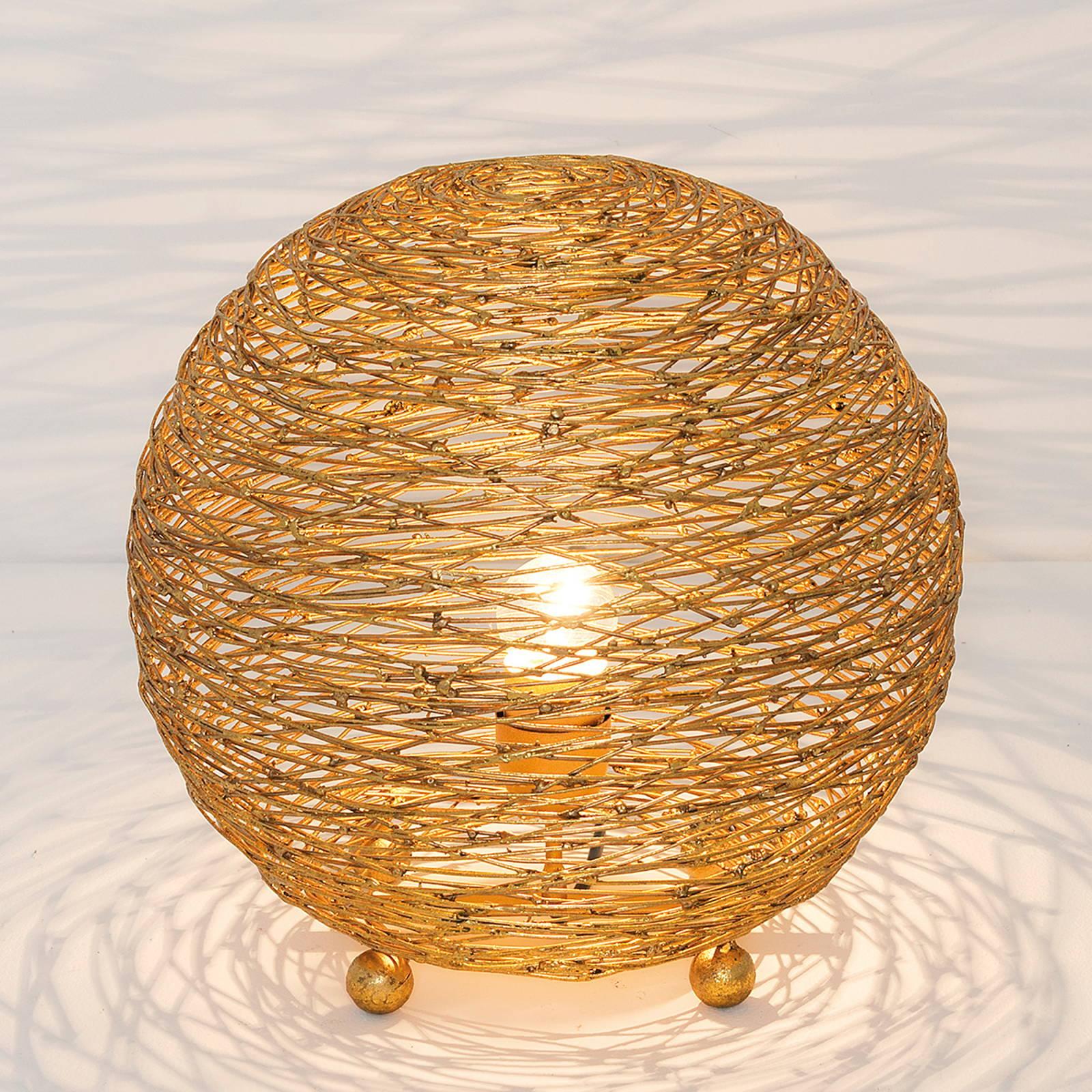 Tafellamp Campano, goud, 30 cm