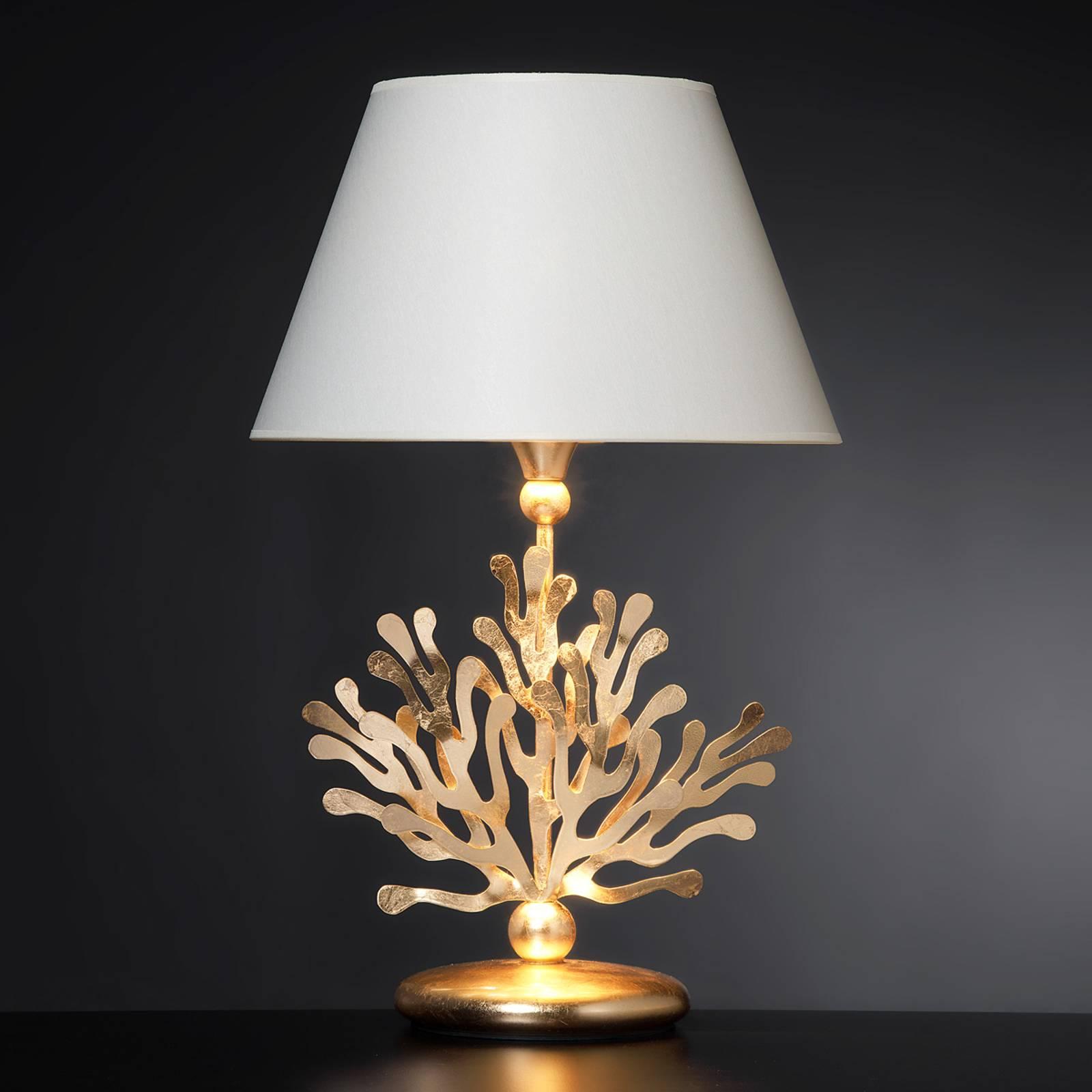 Lampe à poser textile Coral dorée