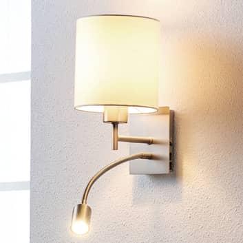 Atrakcyjna lampa ścienna Camilo z lampką do czyt.
