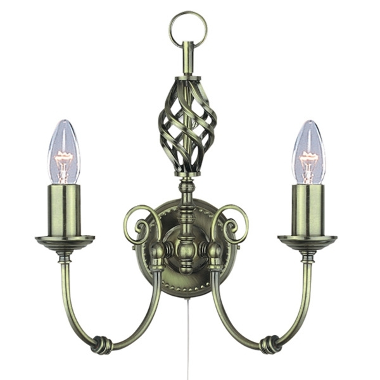 Messing wandlamp ZANZIBAR
