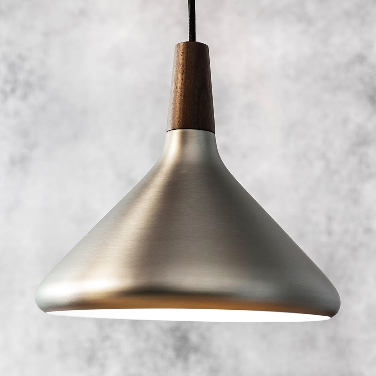 Závěsné světlo Float v kartáčované oceli, 27 cm