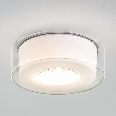 Plafoniera LED Curling di design, vetro