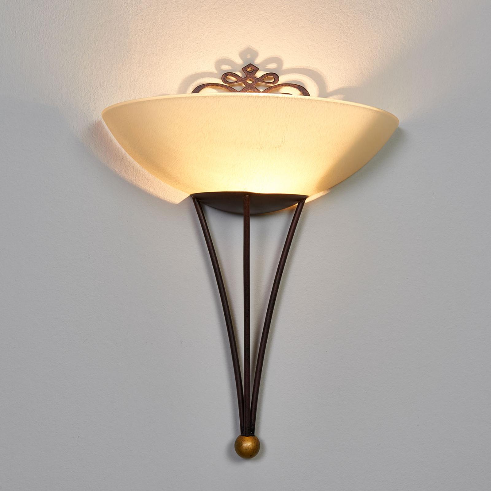 Ozdobna lampa ścienna Master z dekoracją