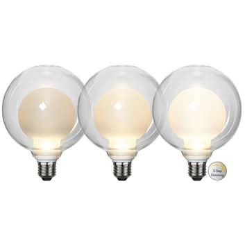 LED-Lampe Space E27 3,5W D125, opal, 3-step dim
