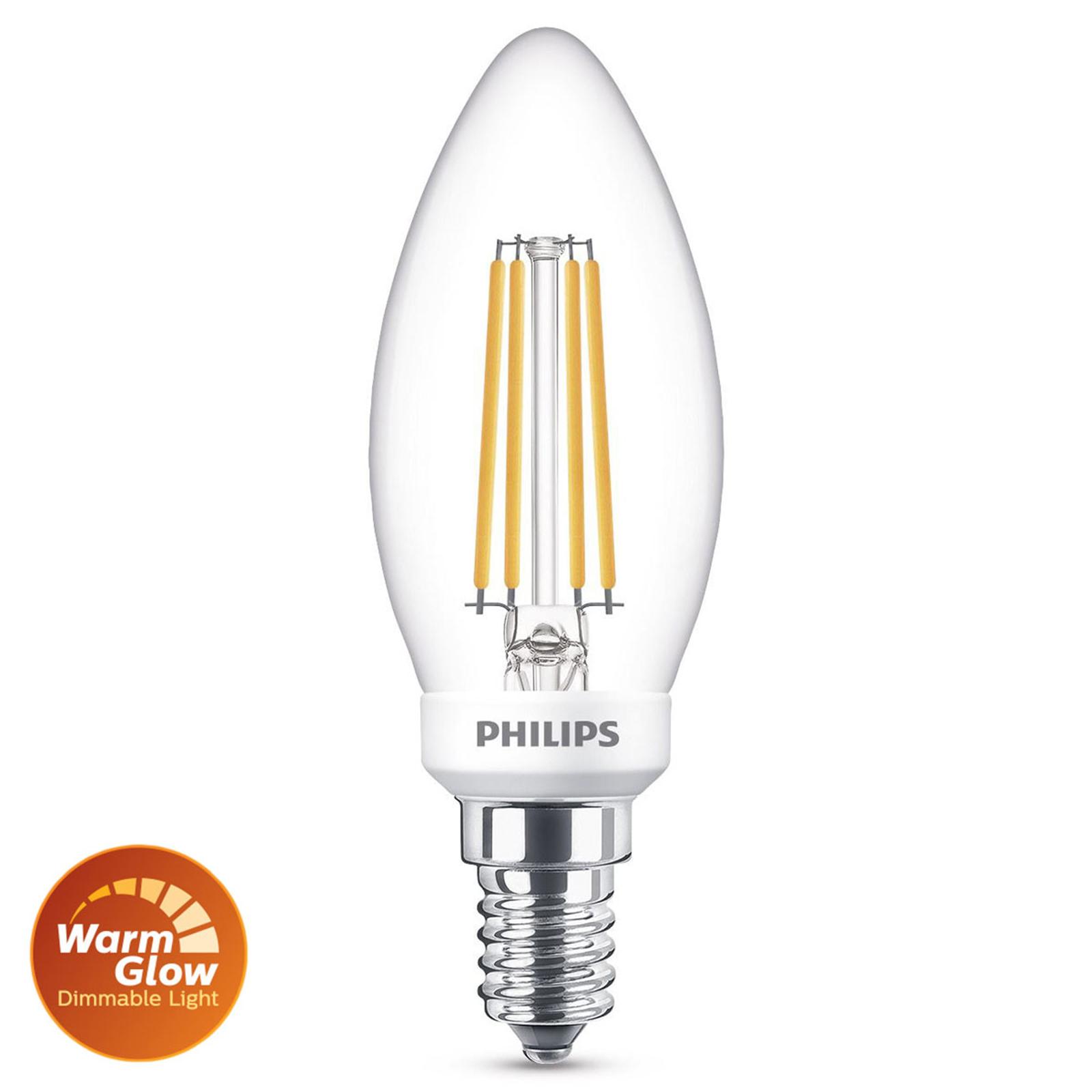 Philips LED-Lampe E14 B35 3,4W 2.700K WarmGlow