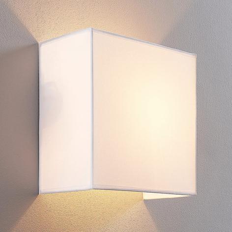 Applique Adea 25 cm, quadrata, stoffa bianca