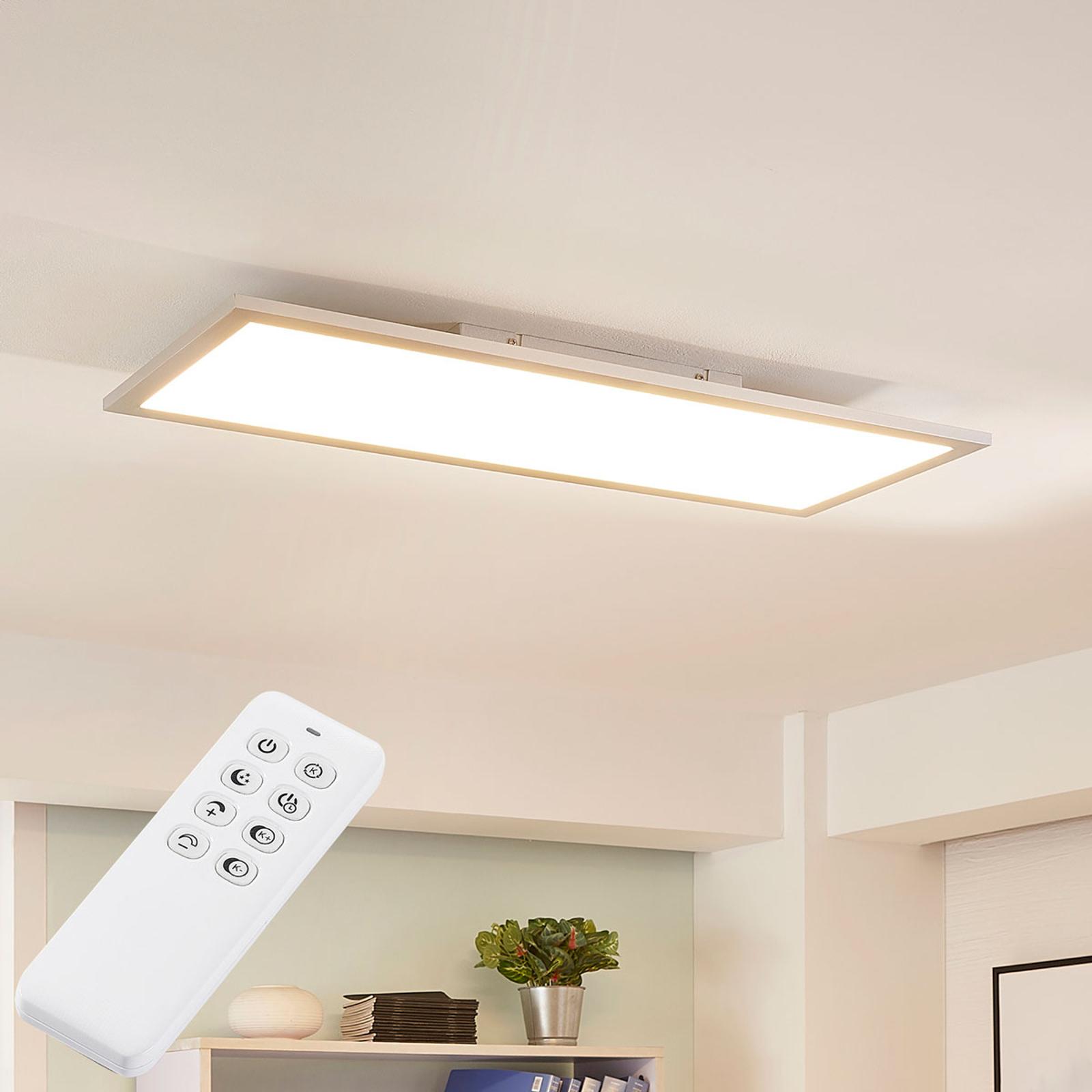Arcchio Lysander LED-Panel, CCT, 79 cm, silber