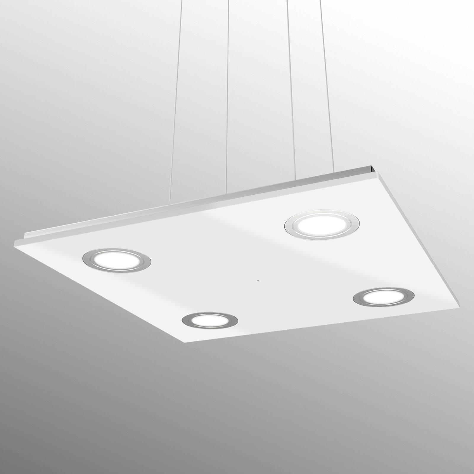 Suspension LED carrée Pano, blanche
