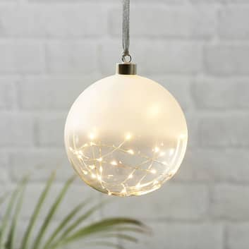 LED-dekorkula Glow frost/klar