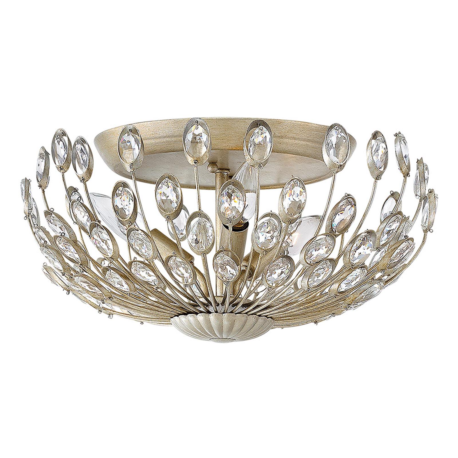 Kryształowa lampa sufitowa Tulah z dystansem