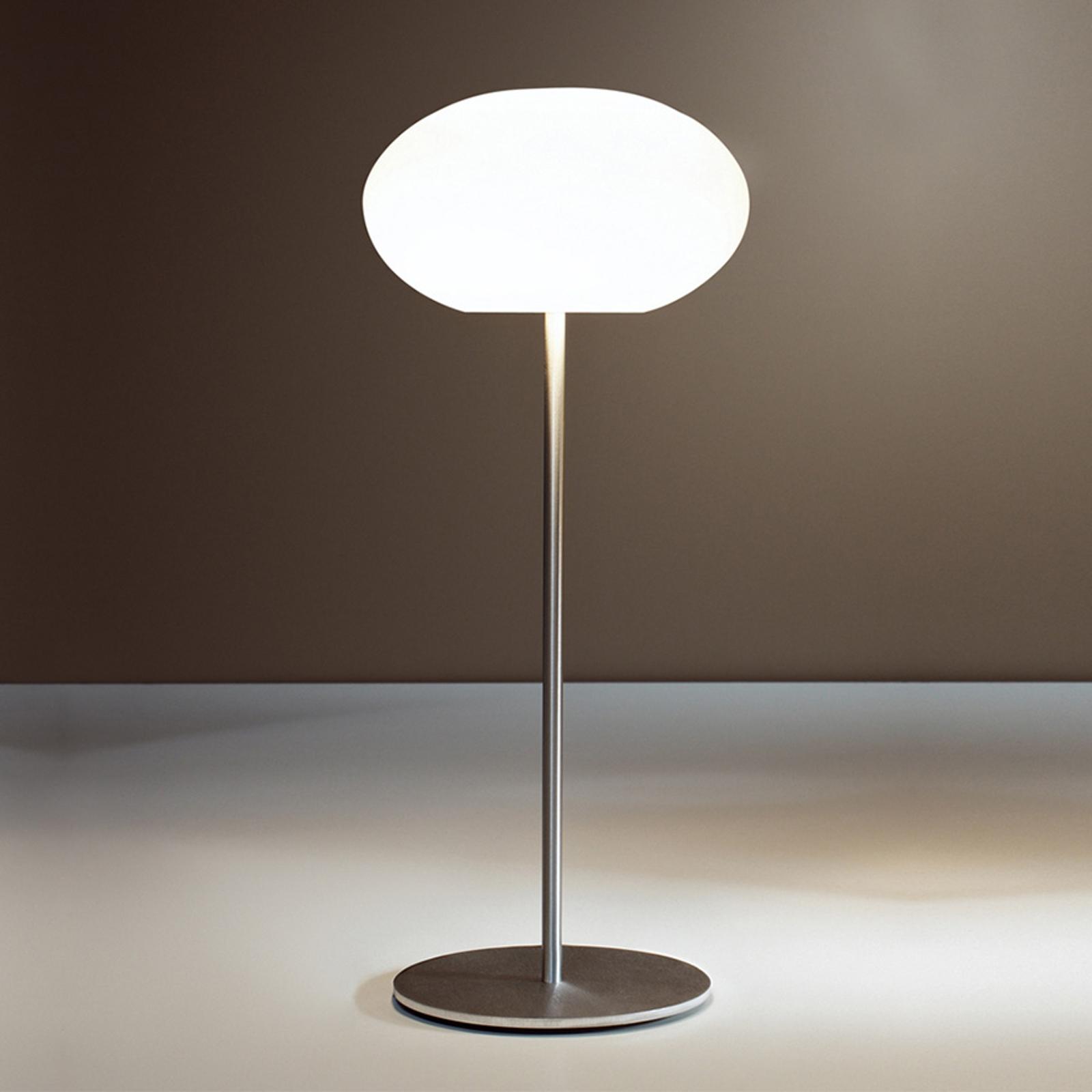 Casablanca Aih lampa stołowa Ø19cm biała lśniąca