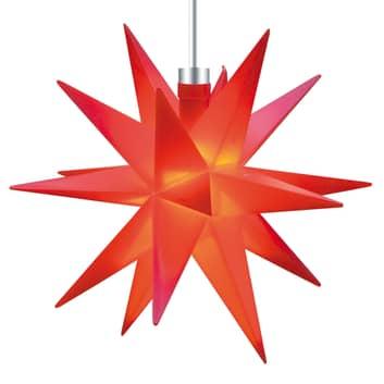 Röd, 18-uddig stjärna 12 cm