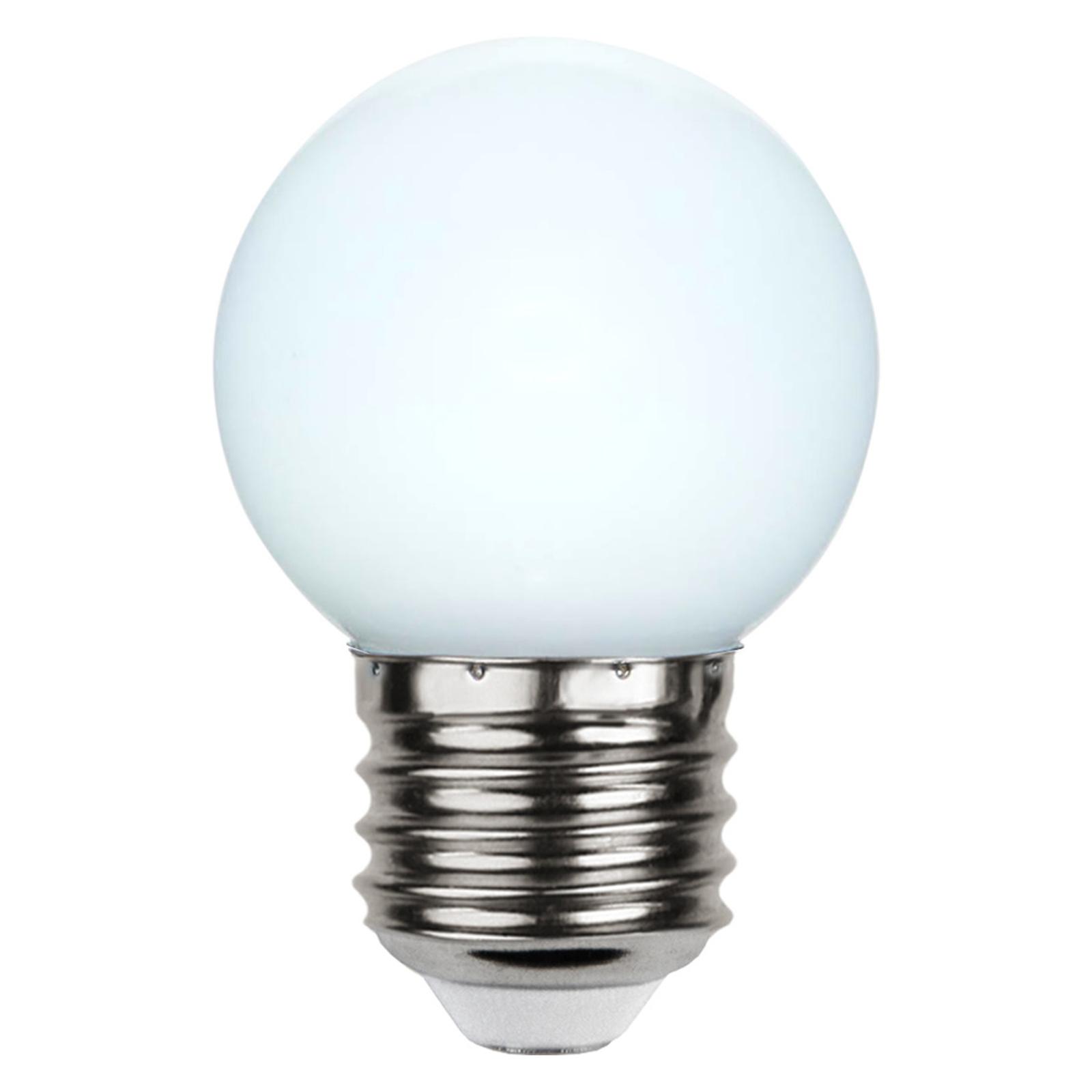 LED-pære E27 G45 for lyslenker, hvit 6500 K