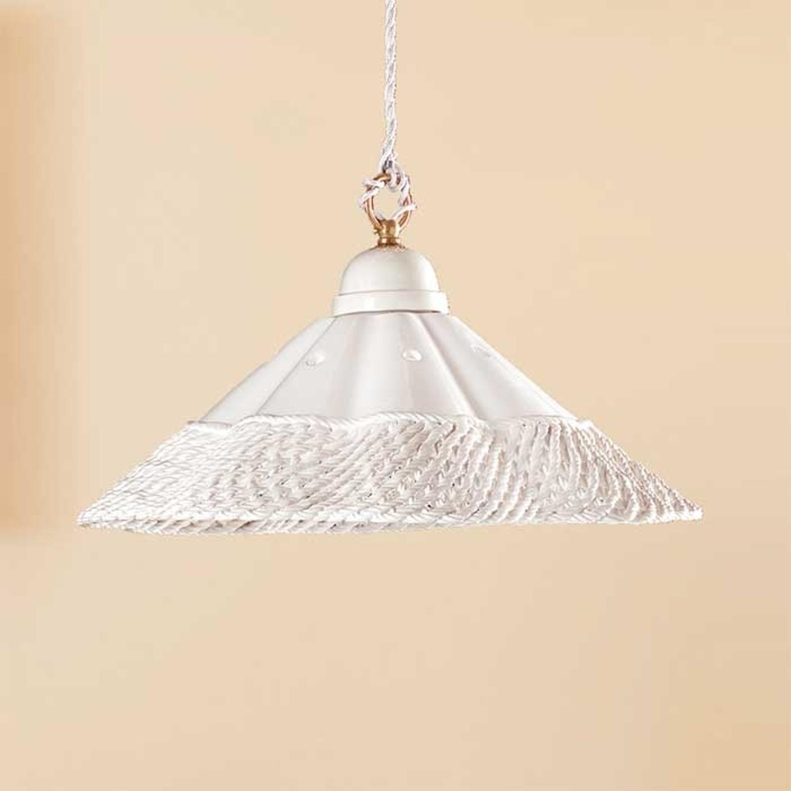 Hanglamp GONNELLA, met dec. rand aan de onderkant