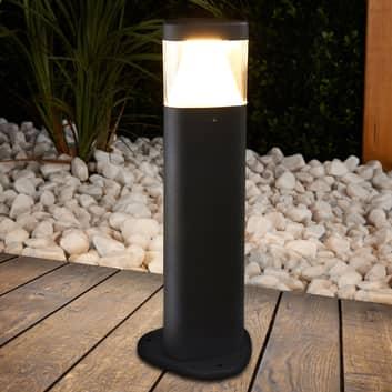 Mørkegrå LED sokkellampe Milou