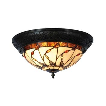 Florent loftlampe i Tiffany-stil