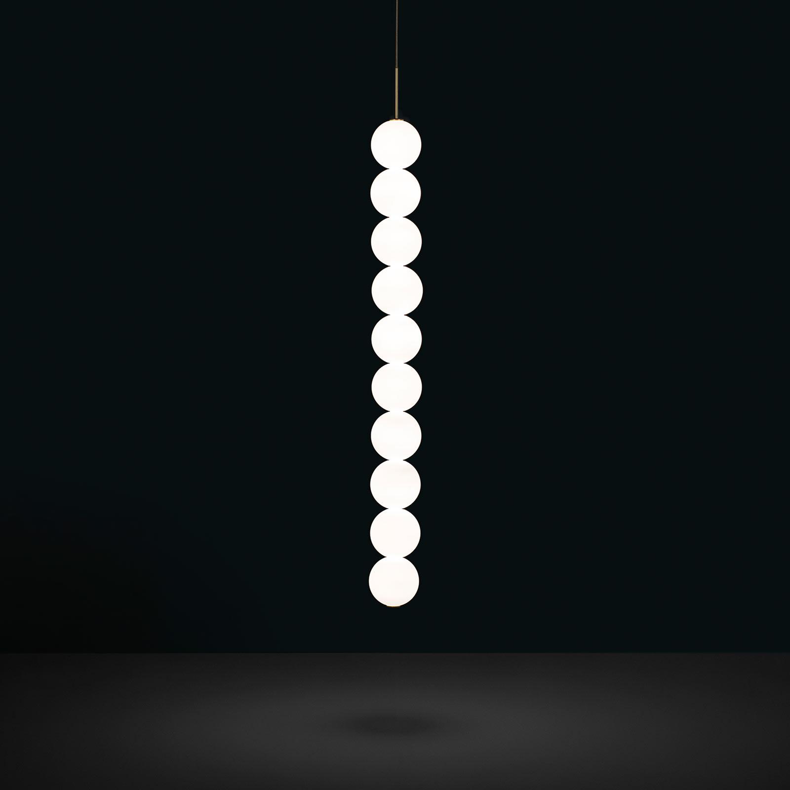 Terzani Abacus lampa wisząca, mosiądz, 10 kul