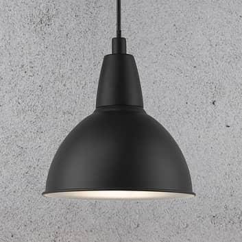 Trude hængelampe med metalskærm, sort