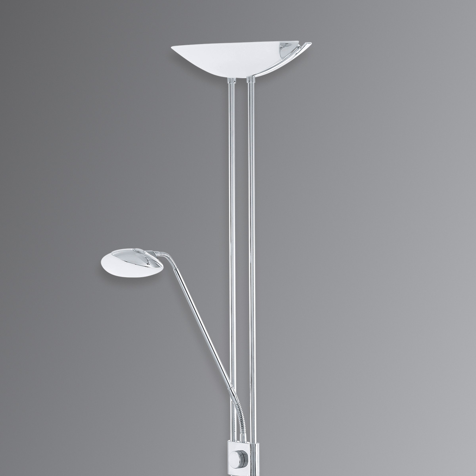 Baya – lampa LED na sufit, z lampką do czytania
