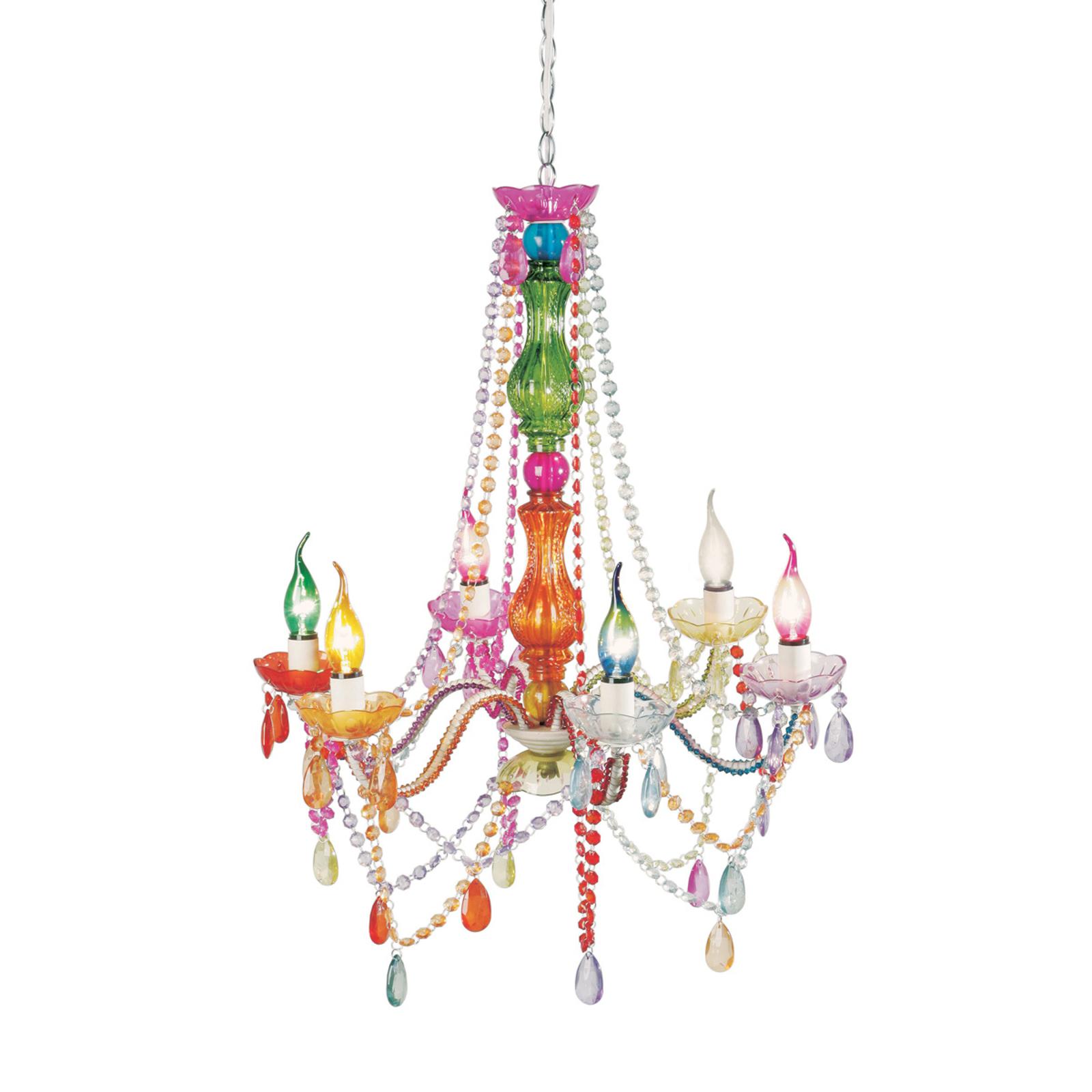 KARE Starlight Regenboog kroonluchter 6 lampjes