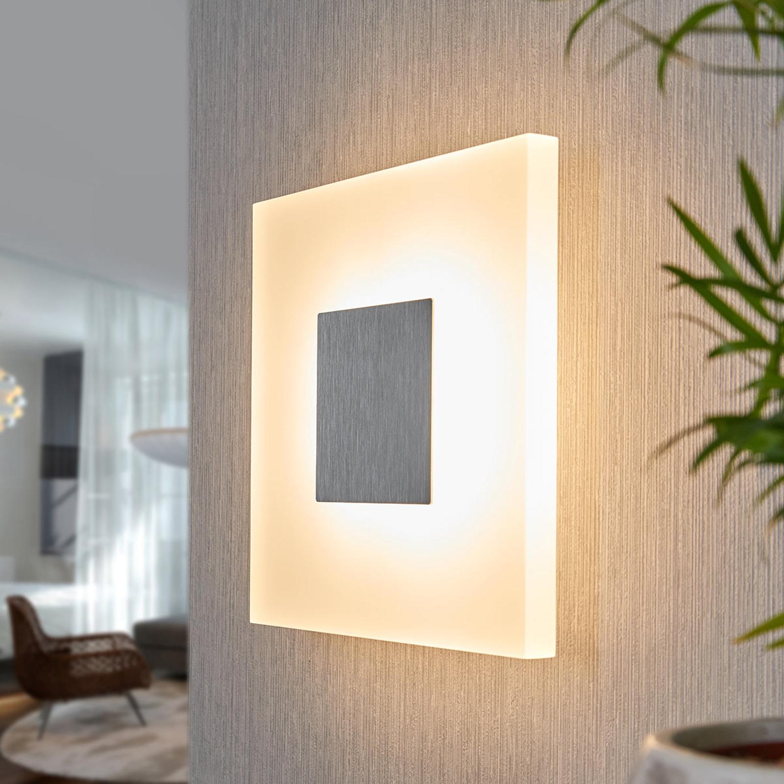 Kvadratisk LED-vägglampa Berlind
