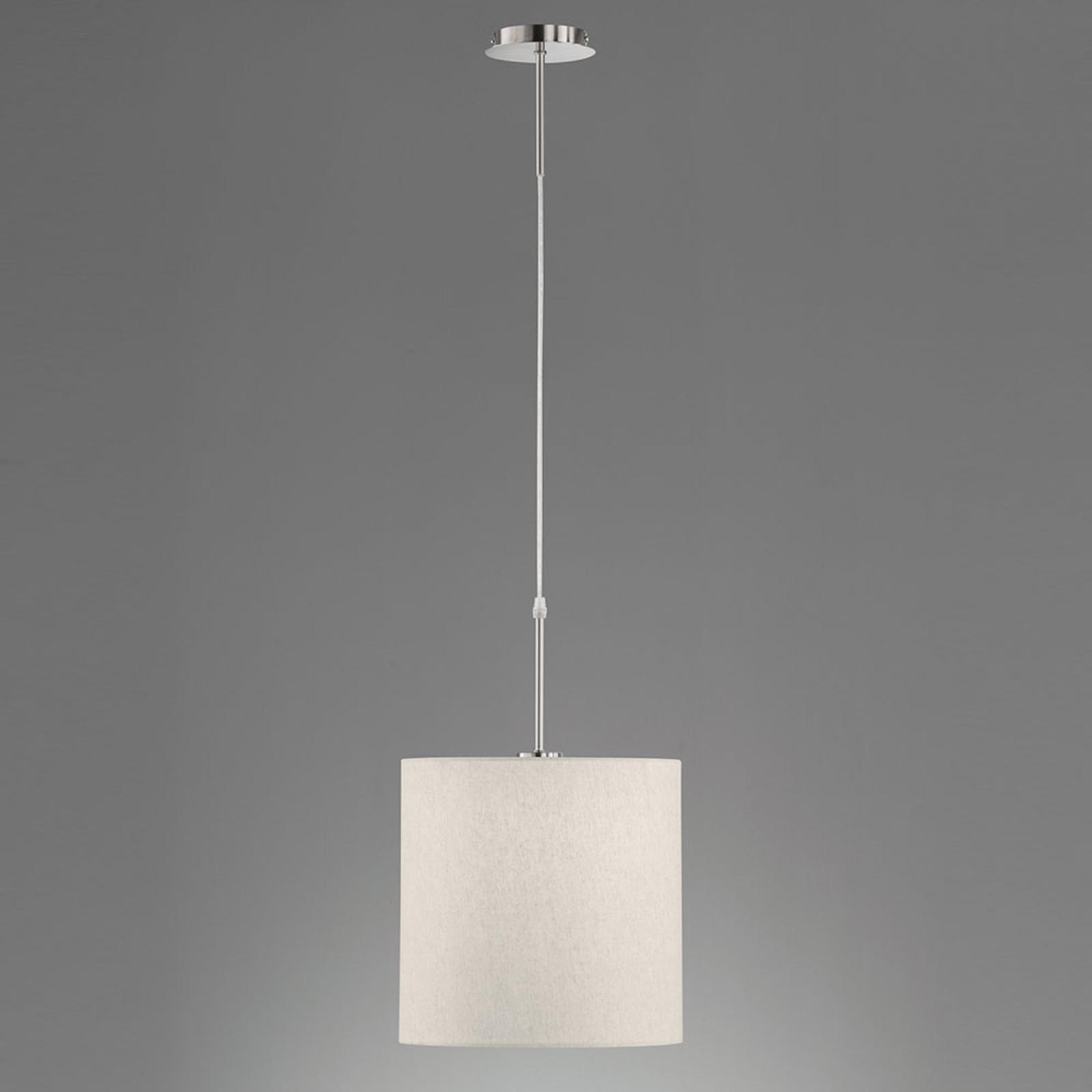 Lampa wisząca Marie, tekstylny klosz, piasek Ø30cm