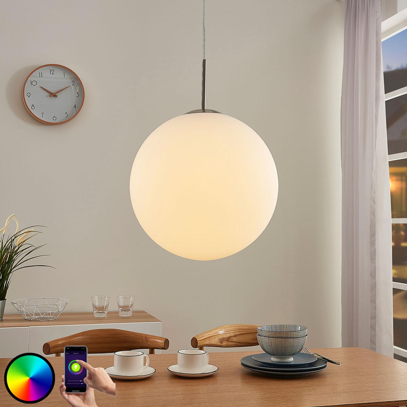 Lindby Smart LED-RGB-pendellampe Rhona, app
