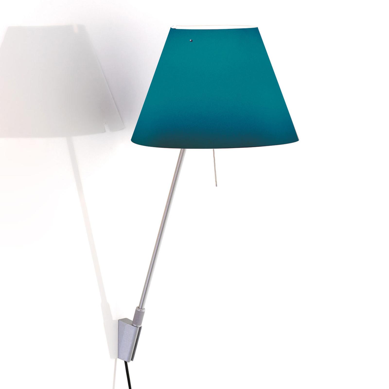 Luceplan Costanzina wandlamp alu, petroleumblauw