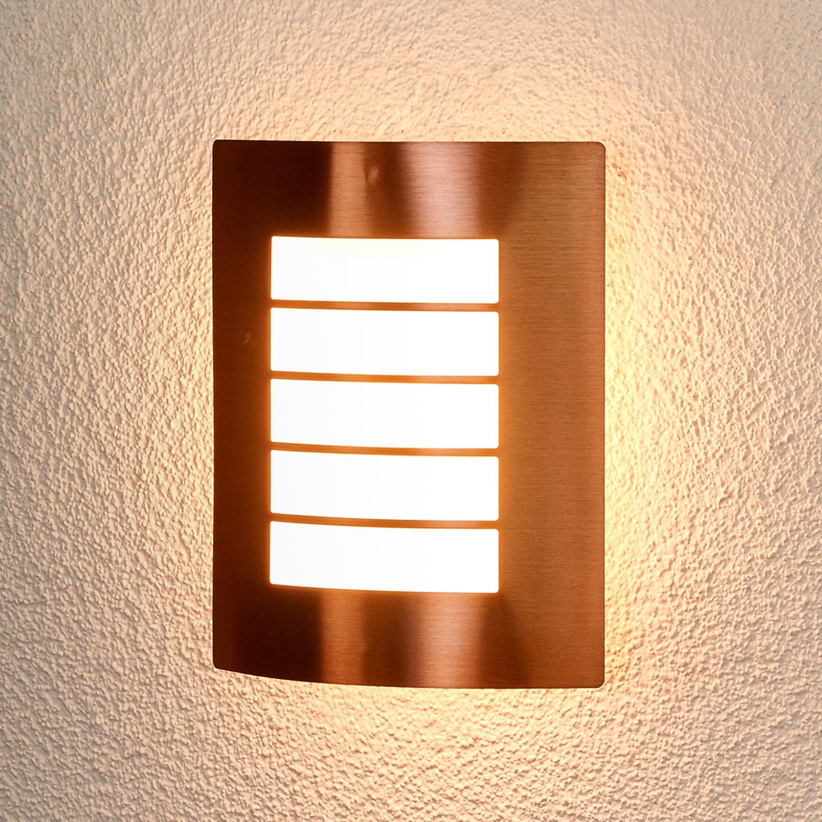 Koperkleurige buitenwandlamp Blanka