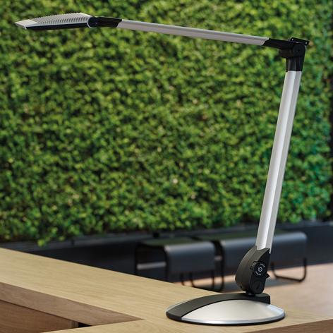 LED-Schreibtischleuchte Optimus mit flachem Fuß