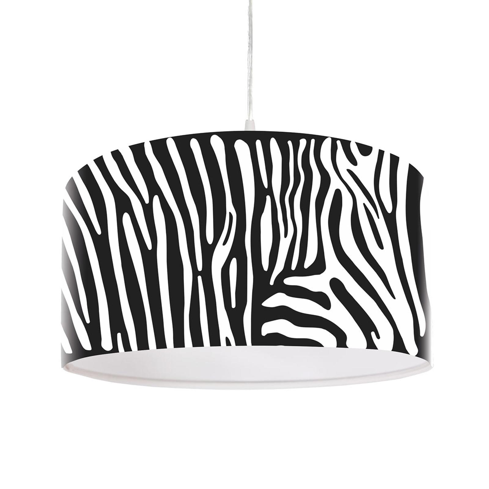 Lampa wisząca Zola z nadrukiem z paskami zebry