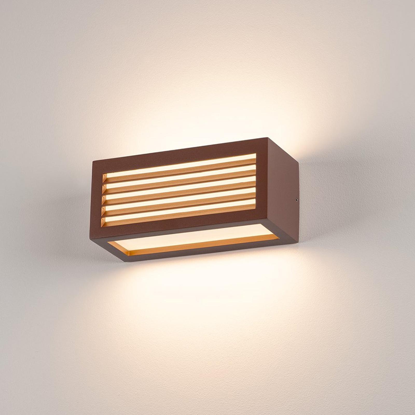 SLV Box-L applique LED, rouille, directe/indirecte