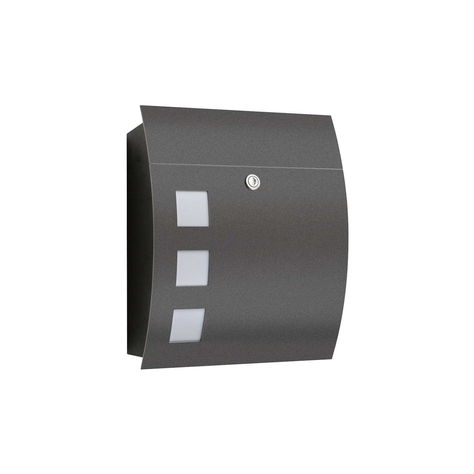 Briefkasten Nila anthrazit mit moderner Optik
